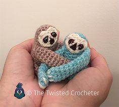 Deze schattige mini gehaakte luiaards is alles wat je nodig hebt om jezelf of iemand gelukkig te maken! Met GRATIS patroon! - Zelfmaak ideetjes