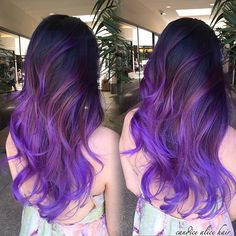 Pretty lavender purple ombre idear for black hair girls to try