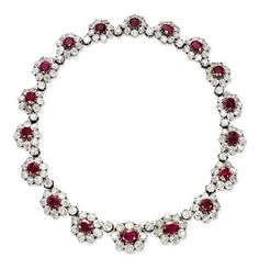 AN IMPORTANT ANTIQUE RUBY AND DIAMOND NECKLACE ($860,971)