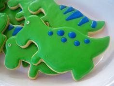 Dinosaur T-Rex cookies