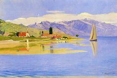 Félix Vallotton (1865 – 1925): Puerto de Pully, 1890.