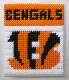 Cincinnati Bengals tissue box cover in plastic canvas PATTERN ONLY by AuntCC for $2.50