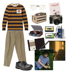 """""""that local soft boyfriend i never had"""" by nadyaarw on Polyvore featuring Marni, Gucci, Urban Outfitters, Crosley Radio & Furniture, Fountain, men's fashion and menswear"""