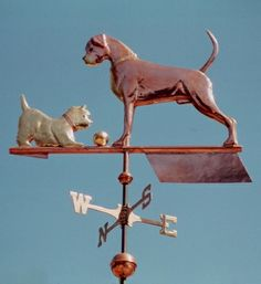 Boxer with West Highland Terrier Weather Vane by West Coast Weather Vanes