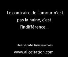L'indifférence :-)