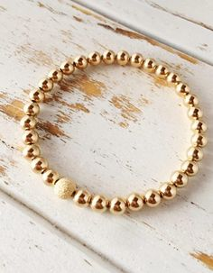 baad98ea52f4 Beautiful Rose Gold Filled Bracelet with Stardust Bead