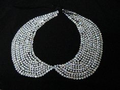 pearl and clear crystal peter pan collar