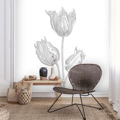 Butterfly Chair, Dares, Line Art, Accent Chairs, Rondom, Drawings, Floral, Wall, Furniture