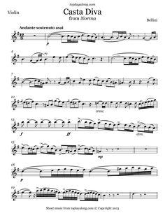 Schindler 39 s list violin sheet music part 2 i play viola - Norma casta diva testo ...