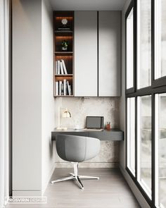 34 Gorgeous Modern Home Office Desk Design Ideas - Just because you are forced to build a home study, does not mean that it has to be old and outdated. Times have changed and there are so many new and . Mesa Home Office, Modern Home Office Desk, Tiny Home Office, Small Home Offices, Home Office Space, Home Office Furniture, Modern Home Offices, Bureau Design, Office Interior Design
