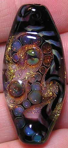 Joyous Creations Shock Wave Dichroic Lampwork Focal Bead | eBay