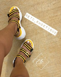 I need more sandals and slides 😍 Pin & Insta: 💜 Cute Sandals, Cute Shoes, Me Too Shoes, Shoes Sandals, Shoes Sneakers, Flats, Sneaker Heels, Shoe Closet, Crazy Shoes