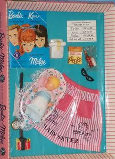 Image result for paper barbie doll 1963