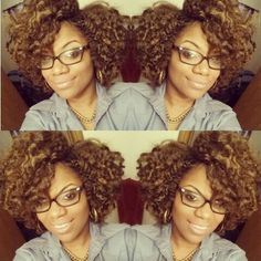 Braid out on Marley crochet hair!  #naturalhair (IG @itsmemeeechelle)