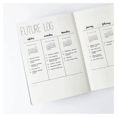Ideia para seu BuJo: o registro futuro (future log)