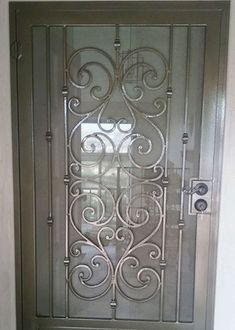 BA Ramirez Iron Works - since San Diego's best value for ornamental wrought iron doors. See photos of our custom wrought iron entry, security & wine cellar doors. Iron Front Door, Simple Bedroom Design, Security Doors, Wrought Iron Doors, Small House Design, Single Doors, Home Design Plans, Decoration, San Diego