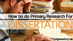 Does a dissertation have to have primary research