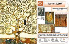 Histoire des arts cycle 2 et 3 - (page 2) - Saperlipopette Gustav Klimt, 7th Grade Art, Montessori Art, Art Worksheets, Ecole Art, Oeuvre D'art, Oeuvres, Art Plastique, Teaching Art