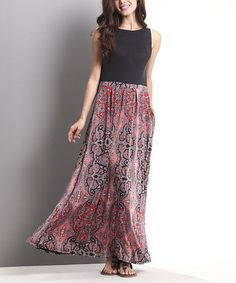 Look what I found on #zulily! Pink Paisley Tank Maxi Dress by Reborn Collection #zulilyfinds