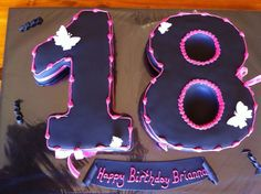 Eighteenth Birthday Black and Pink theme 18th Birthday Cake, Birthday Parties, Pink Themes, Red And Pink, Birthday Candles, Party Ideas, Cakes, Black, Anniversary Parties