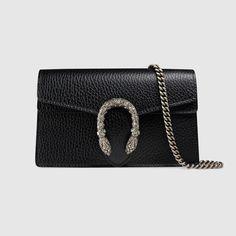 Gucci Dionysus Mini Textured-leather Shoulder Bag In 8176 Nero Gucci Store, Gucci Gifts, Gucci Handbags, Gucci Bags, Designer Handbags, Gucci Purses, Gucci Gucci, Designer Bags, Leather Chain