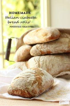 Homemade Ciabatta Bread Rolls | Foodness Gracious