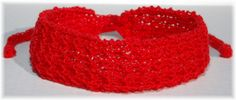 Comfort! Beautiful! Gorgeous Red! Handmade Knit Headband with Ties  by Cozy for $6.50 #group2020