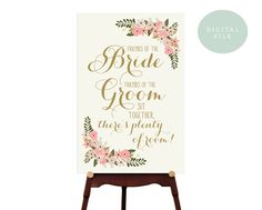 PRINTABLE Ceremony Seating Sign // Choose a seat not a side // Wedding Entrance Sign // Vintage Wedding Sign // Seating // INSTANT DOWNLOAD