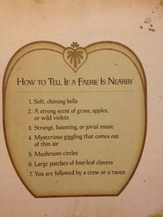 how to know if a fairy is near