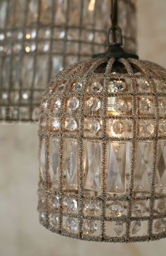 oh man. birdcage chandelier - the centerpiece of the ceremony gazebo?