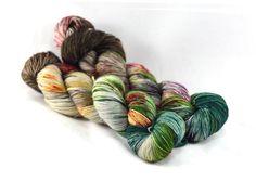 Speckle Dyed Yarn  Cashmere Yarn  Sock Yarn  by DestinationYarn