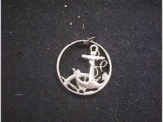 Anchor Wheel Rope Cut Coin Necklace Hand Cut by CutCoinJewelry, $28.99