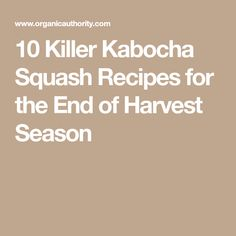 10 Killer Kabocha Squash Recipes for the End of Harvest Season