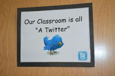 Twitter wall: cute for the first day of school