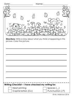 1st Grade Writing Worksheets