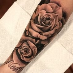 rose tattoo forearm - rose tattoo ` rose tattoo design ` rose tattoo men ` rose tattoo forearm ` rose tattoo on shoulder ` rose tattoo sleeve ` rose tattoo wrist ` rose tattoo ribs Rose Tattoo Forearm, Forarm Tattoos, Dope Tattoos, Badass Tattoos, Trendy Tattoos, Body Art Tattoos, Tatoos, Guy Sleeve Tattoos, Rose Tattoo On Hand