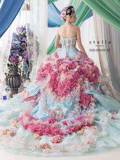 dball~dress ballgown ~ Beautiful Unique Ball Gowns, couture, wedding, bridal, bride, dress, fantasy, flowers, flower, floral, flora, fairytale, fashion, designer, beautiful, stunning, prom dress, ball gown, Cinderella, Princess, satin, lace, velvet, bodice, vintage, Marie Antoinette, fashion, dress, dresses, elegant, sweetheart, corset,