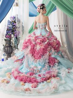 dball~dress ballgown ~ Beautiful Unique Ball Gowns, couture, wedding, bridal, bride, dress, fantasy, flowers, flower, floral, flora, fairytale, fashion, designer, beautiful, stunning, prom dress, ball gown, Cinderella, Princess, satin, lace, velvet, bodice, vintage, Marie Antoinette, fashion, dress, dresses, elegant, sweetheart, corset,