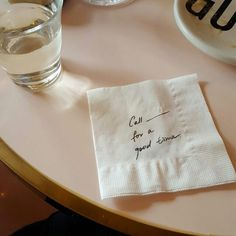 napkin and quotes image
