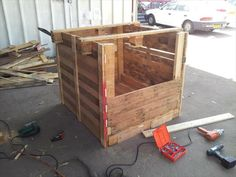step 2 for pallet playhouse