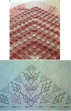 56 trendy ideas for crochet shawl pattern diagram flower Crochet Shawl Diagram, Crochet Poncho, Crochet Chart, Knitted Shawls, Crochet Scarves, Crochet Motif, Crochet Flowers, Crochet Lace, Crochet Stitches