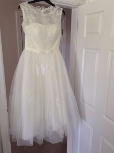 50's style Wedding Dress, Ivory Tulle and Lace, Size 10 in Clothes, Shoes & Accessories, Wedding & Formal Occasion, Wedding Dresses | eBay