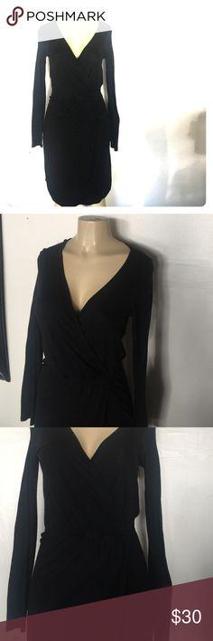 C&C California black cotton wrap dress NWOT never worn. In perfect condition C & C California black wrap dress C&C California Dresses