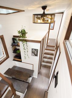 """""""Starling"""" Gooseneck Tiny House on Wheels by Rewild Homes - Dream Big Live Tiny Co. Small Tiny House, Tiny House Living, Tiny House Plans, Tiny House On Wheels, Tiny House Design, Tiny House Luxury, Home Staging, Tyni House, Interior Minimalista"""