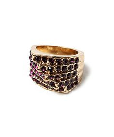 Another great find on #zulily! Gold & Purple Austrian Crystal Nopala Ring by Amrita Singh #zulilyfinds