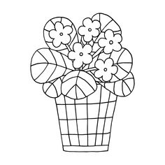 Coloring Pages of Flowers — Happies Wonderful Flowers, Flowers For You, Iris Flowers, Flower Pots, Beautiful Flowers, Detailed Coloring Pages, Flower Coloring Pages, Free Coloring Pages, Coloring Books