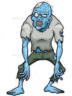 Buy Zombie by SARAROOM on GraphicRiver. Vector illustration of Cartoon zombie Arte Zombie, Zombie Art, Zombie Makeup, Zombie Drawings, Cartoon Drawings, Cartoon Tattoos, Poses, Zombie Tattoos, Character