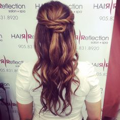#style#upstyle#waves#hl#lowlights#hairreflection Updos, Salons, Spa, Dreadlocks, Long Hair Styles, Waves, Beauty, Up Dos, Living Rooms