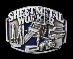 SHEET METAL SHEETMETAL SHOP WORKERS OPERATORS TOOLS MACHINES BELT BUCKLE BUCKLES #CoolBuckles #Casual