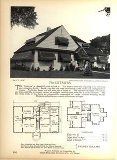 The CATAWBA - Home Builders Catalog: plans of all types of small homes by Home Builders Catalog Co.  Published 1928